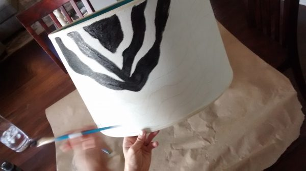 painting on the zebra stripes
