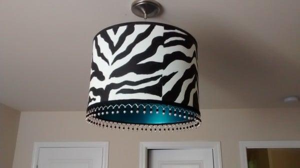 zebra chandelier