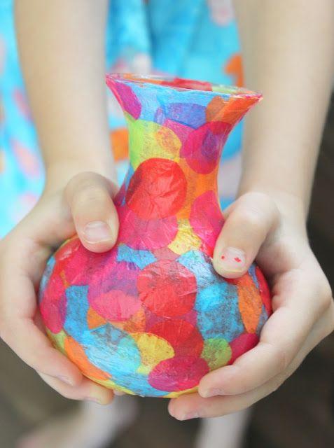 easy mod-podge confetti vase