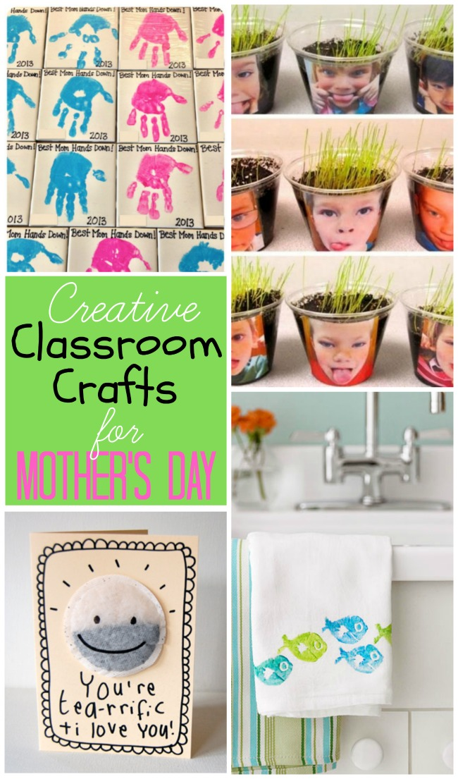 Great collection of creative classroom crafts for Mother's Day. Great resource for teachers!