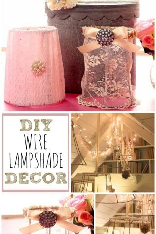These DIY wire lampshade decor ideas will have your space looking pretty in no time!