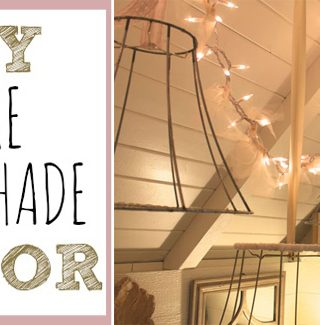 DIY Wire Lampshade Decor