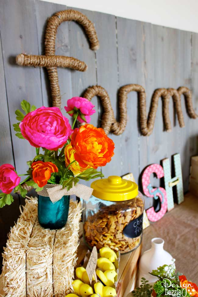 Check out my Farm Chic Bash on Design Dazzle! So many fun DIY projects and beautiful ideas!