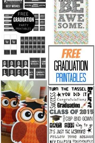 Fabulous & FREE graduation printables to celebrate the big day!