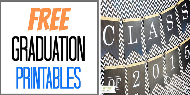 This is a graphic of Smart Printable Graduation Decorations