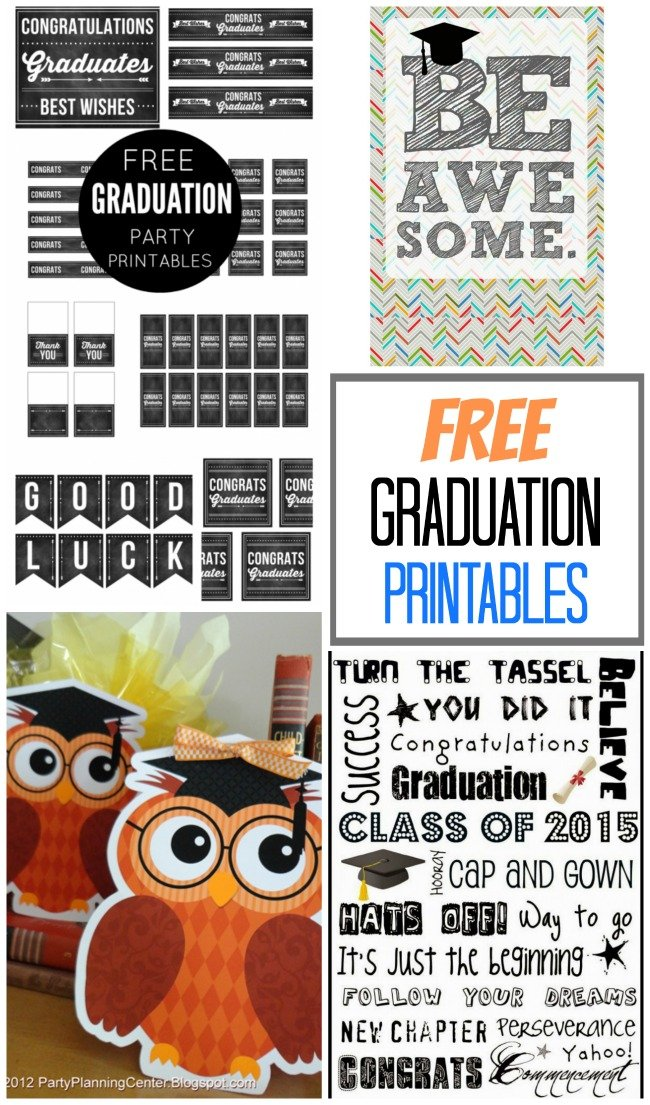 Fabulous & FREE printables for graduation to celebrate the big day!
