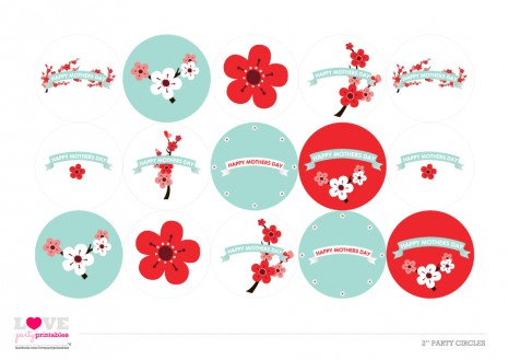 cherry blossom mother's day printable