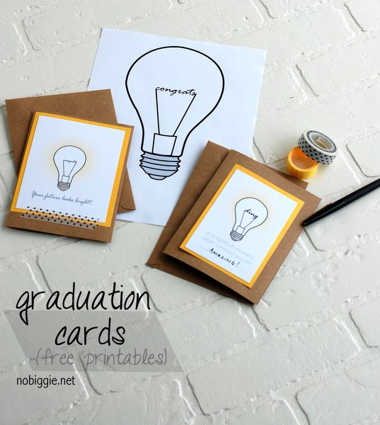 Graduation cards free printables nobiggie net