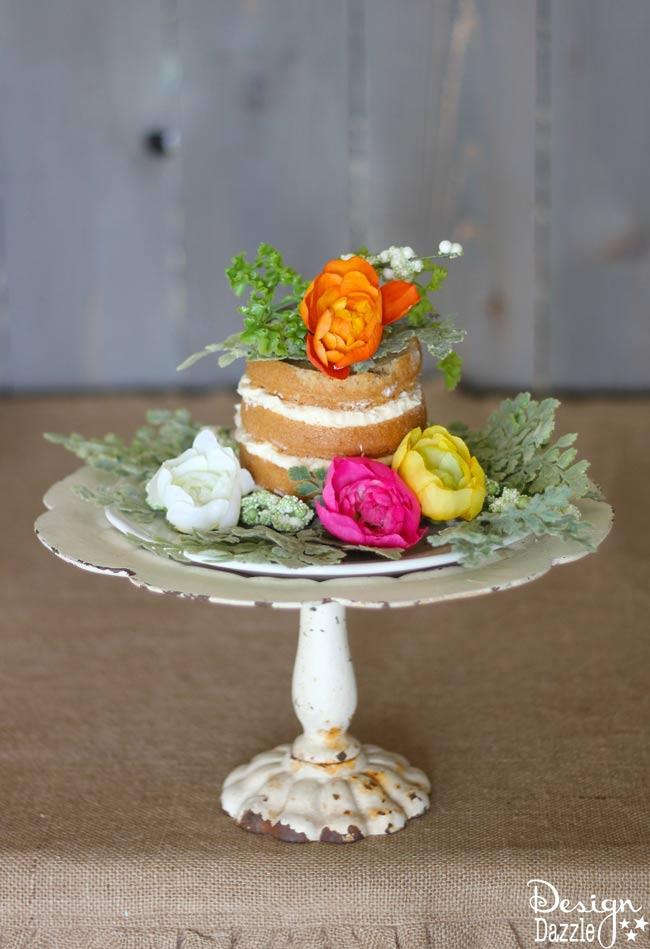 Make an easy boxed cake for simple farm dessert! Design Dazzle