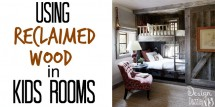 reclaimed wood in kids rooms