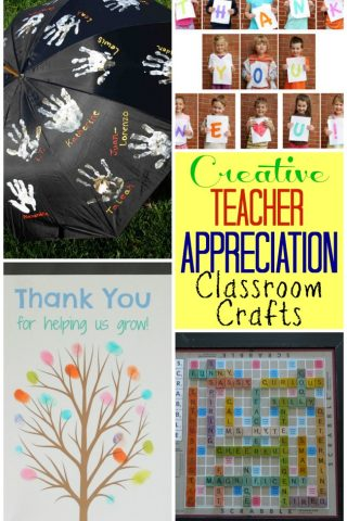 Creative Teacher Appreciation classroom crafts to get the kids involved in making something special for their teacher.