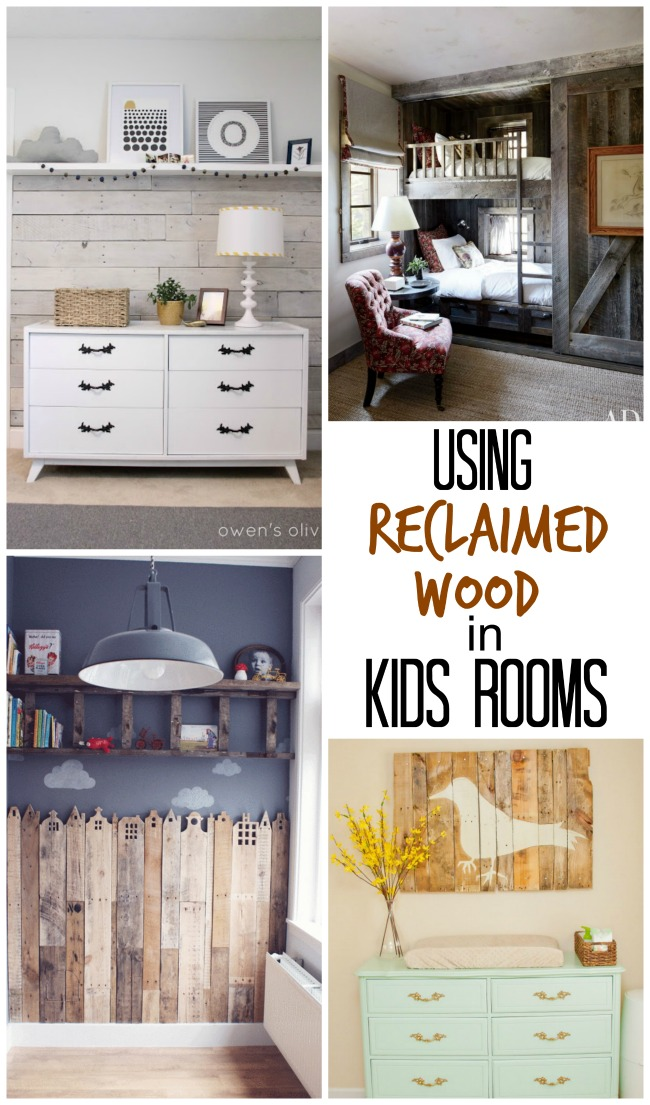 Fabulous ideas for using reclaimed wood in kids rooms!