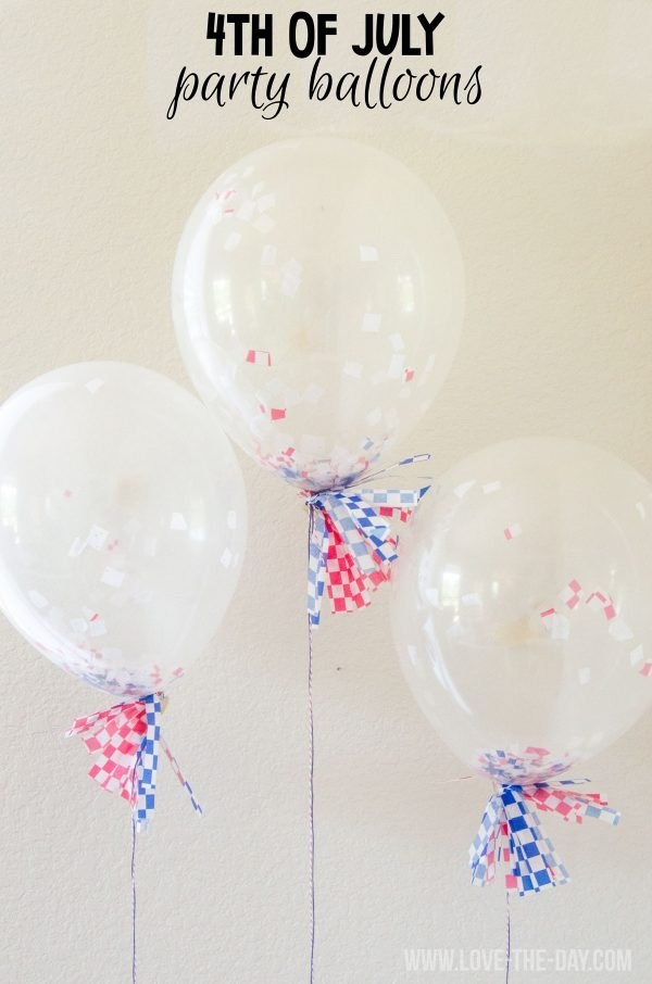 4th of July Party Balloon Tutorial by Love The Day