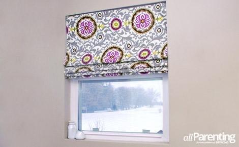 mini-blinds into roman shades