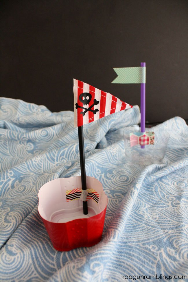 Fun upcycled boats the kids can make. Great summer activity