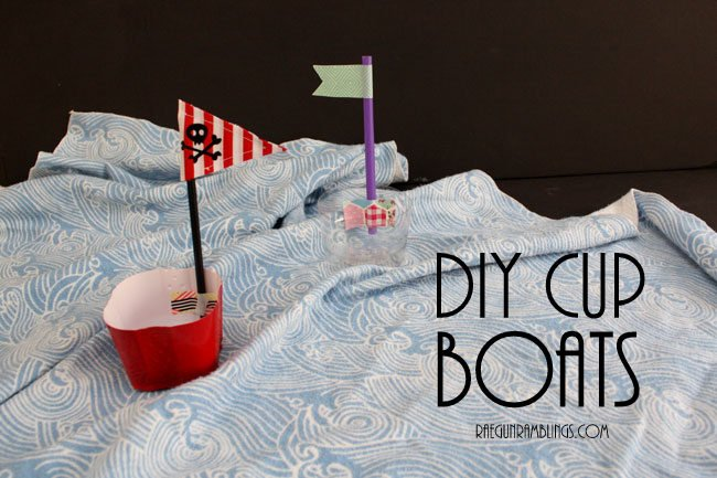 Darling boats made out of party leftovers kid crafts