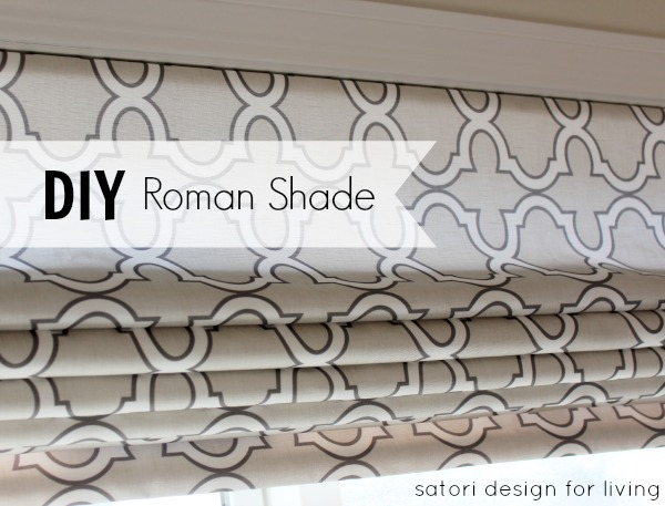 diy roman shades design dazzle. Black Bedroom Furniture Sets. Home Design Ideas