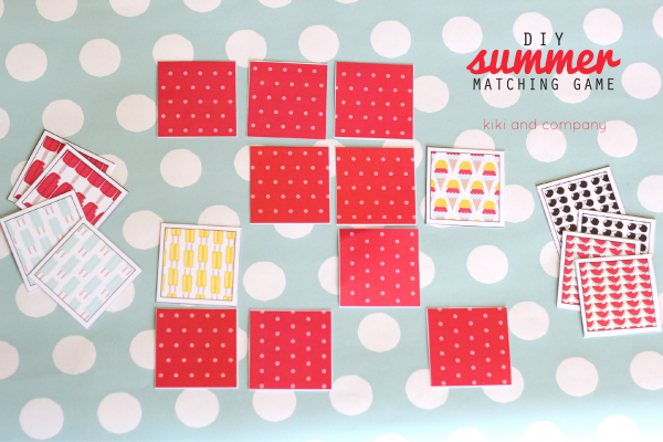 DIY Summer Matching Game. Love this!