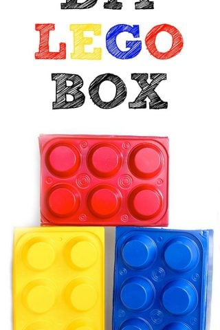 DIY Lego Box - perfect for storing legos, party props & more!