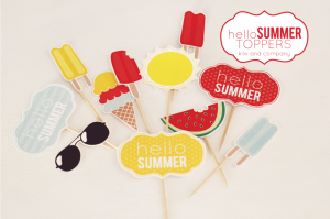 Free-Hello-Summer-Toppers-from-kiki-and-company.-Cute-for-desserts-or-picnics-1024x682
