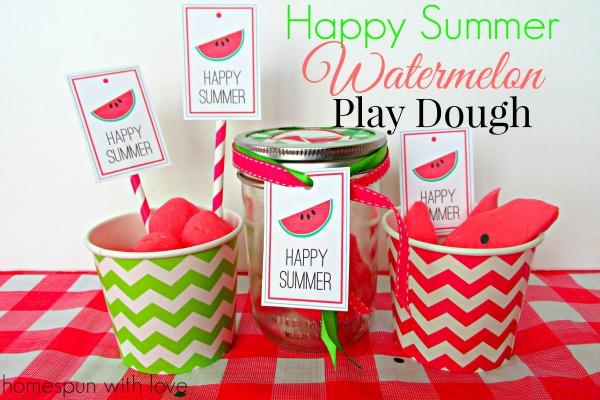 happy summer watermelon playdough