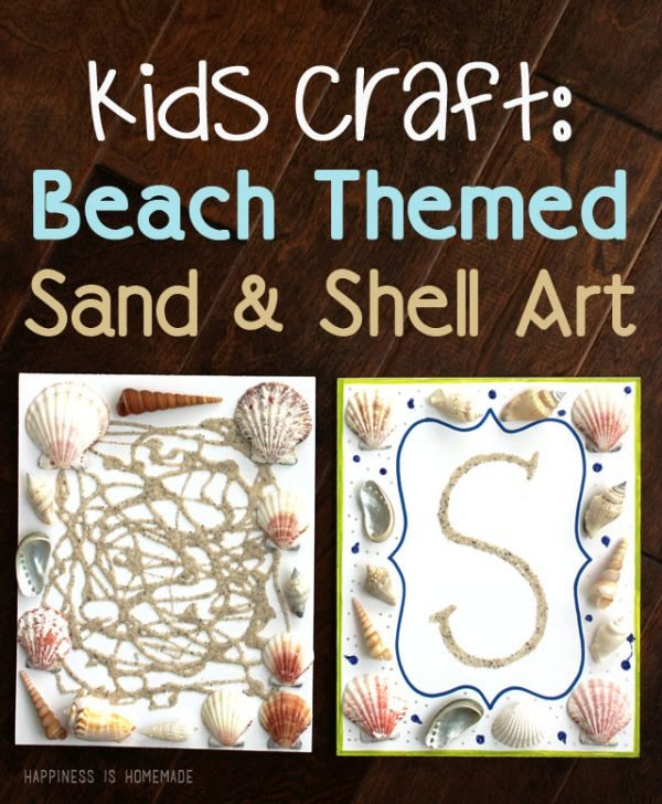 summer fun for kids! sand and shell art