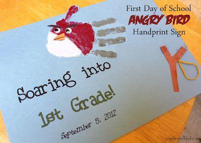 angry birds handprint