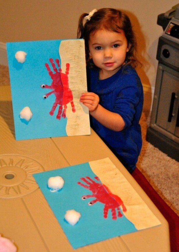 handprint crab beach craft