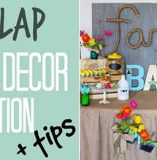Burlap Party Decor Inspiration + Tips