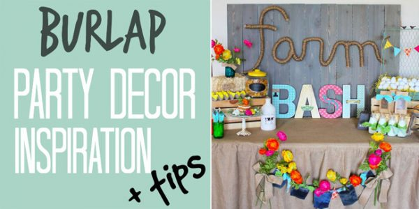 burlap party decor inspiration and tips