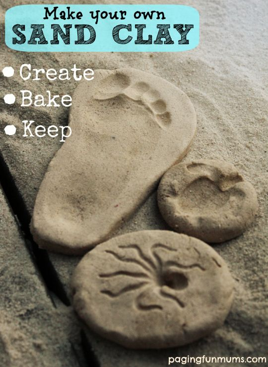 make your own sand clay