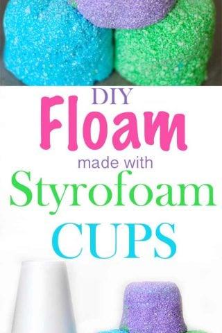 DIY Styrofoam Cup Floam