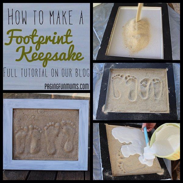 footprints in the sand keepsake