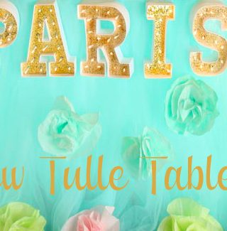 Easy No Sew Tulle Tablecloth