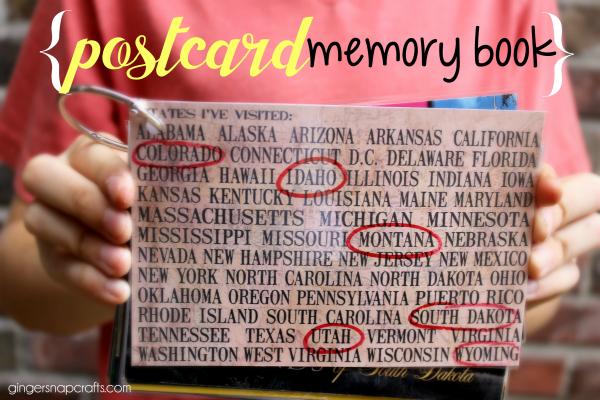 postcard memory book