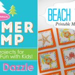 Beach Themed Printable Memory Game