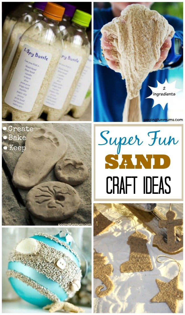 Sand Craft Ideas At The Beach For Kids Adults
