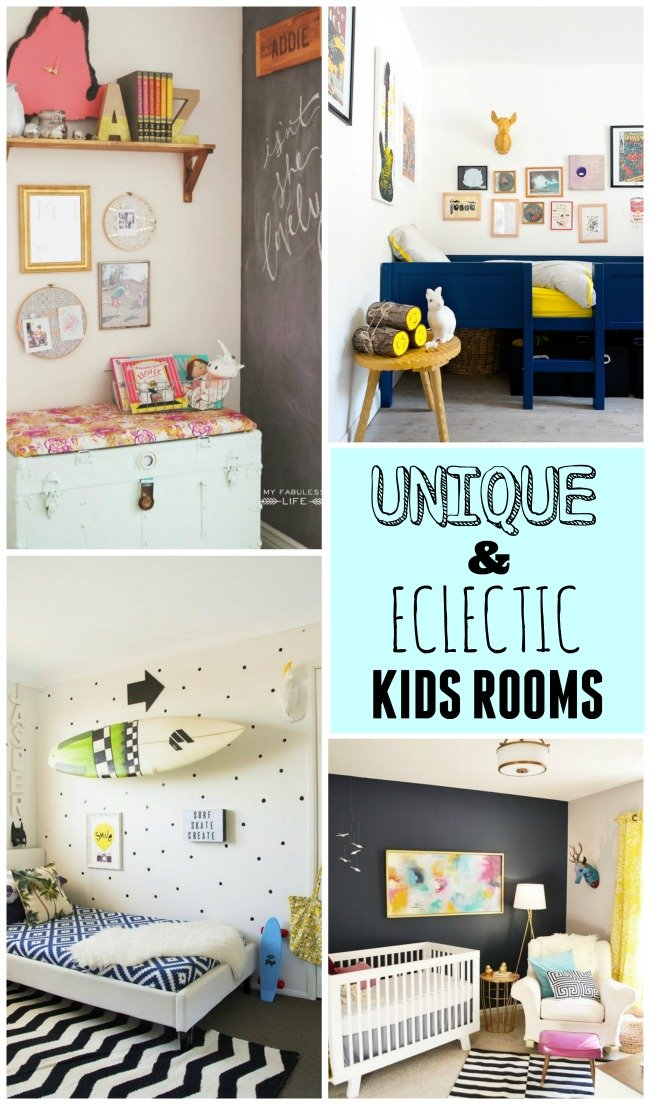 Fabulous collection of unique and eclectic kids rooms that have a fabulous style!