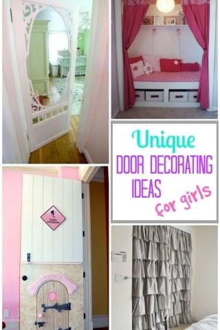 Unique door decorating ideas for girls 1