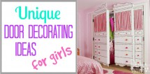 unique door decorating ideas for girls