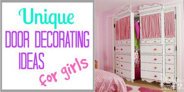 unique door decorating ideas for girls