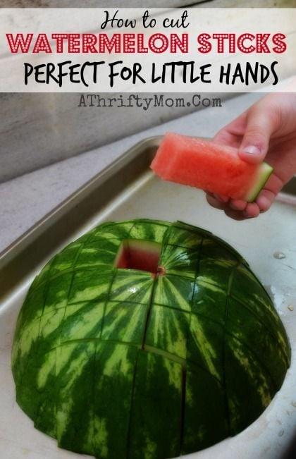 watermelon sticks for little hands