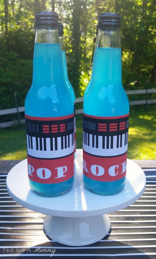 Dad, You Rock! Father's Day table soda bottles