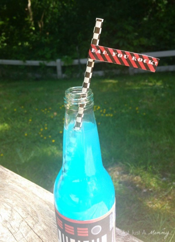 Dad, You Rock! Father's Day table drink straw