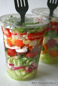 chopped salad in a cup