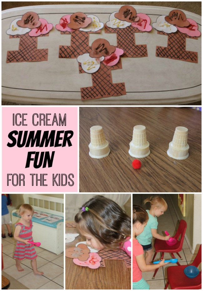 Summer fun with ice cream for the kids!