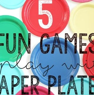 5 fun games to play with paper plates!