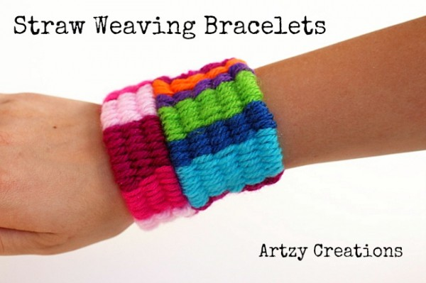 straw-weaving bracelets