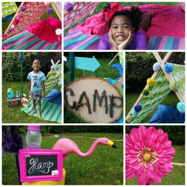 Camp Glamp collage
