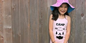 Create an adorable Camp Cutie Patootie custom tank or t-shirt for your little camper with this Cricut project from Hello Creative Family.